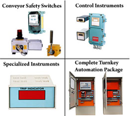 Conveyor Safety Switches, Control Instruments, Specialized Instruments, Complete Turnkey Automation Package